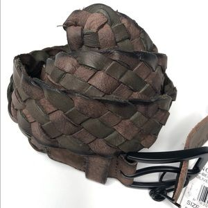 NWT James Campbell Braided Woven Leather Belt